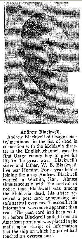 Andrew Blackwell death notice